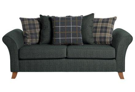 Collection Kayla 3 Seater Fabric Sofa - Charcoal.