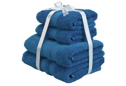 Heart of House Egyptian Cotton 4 Piece Towel Bale - Deep Sea
